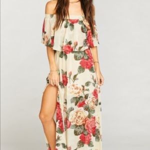 Show Me Your Mumu XXS Hacienda MAXI Dress Floral